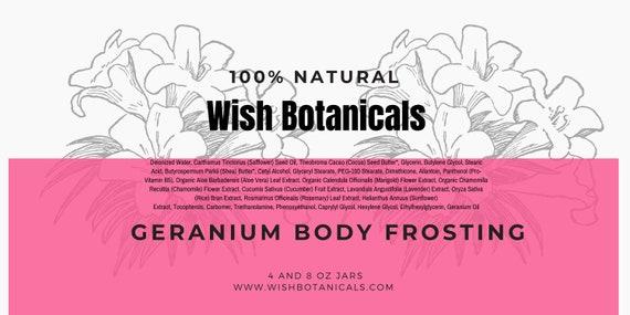 Facial Mousse | Geranium, vitamins A E C | Carrot Seed Oil| Aloe all natural