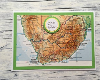 """Greeting Card """"Good Trip"""" (South Africa), Travel Card, Travel Voucher, Travel, Greetings, Voucher, Voucher Trip, South Africa, Cape Town, Johannesburg,"""
