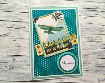 """Voucher """"Round flight/flight trip"""", voucher, flight, voucher for a flight,"""