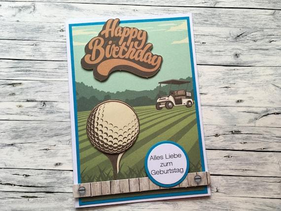 Birthday Card For Golfer Greeting Golf