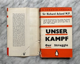 Unser Kampf: Our Struggle by Richard Acland - vintage Penguin Special S54 (1940) - economics - morality - common ownership- World War II