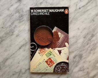 Cakes and Ale by W. Somerset Maugham - vintage Penguin Books paperback (1981) - British lit - Harri Peccinotti - Derek Birdsall