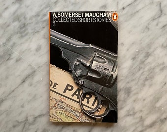 Collected Short Stories 3 by W. Somerset Maugham - vintage Penguin Books paperback (1986) - British lit - Harri Peccinotti - Derek Birdsall
