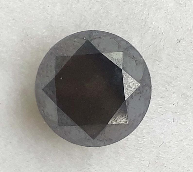 2.85 Carat  1 PCs Excellent Superb Big Brilliant Natural Full Light Black Full Round Cut Faceted Polished Loose Diamond..6.52M\u00d77.90M\u00d77.90M.