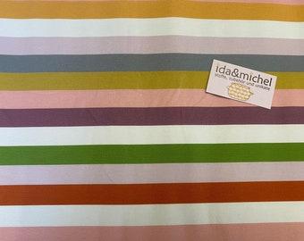 0.5 m Lillestoff - Organic Jersey - Class Stripes - Lillemo - Colorful - Block Stripes