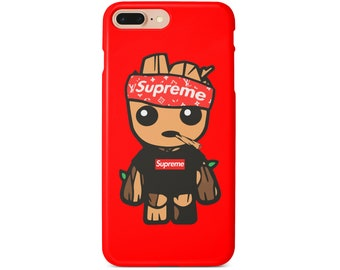 Baby Groot Supreme Phone Case For Iphone Xs Max Xr 10 X 7 8 6 Plus Samsung S8 S9 S7 Edge