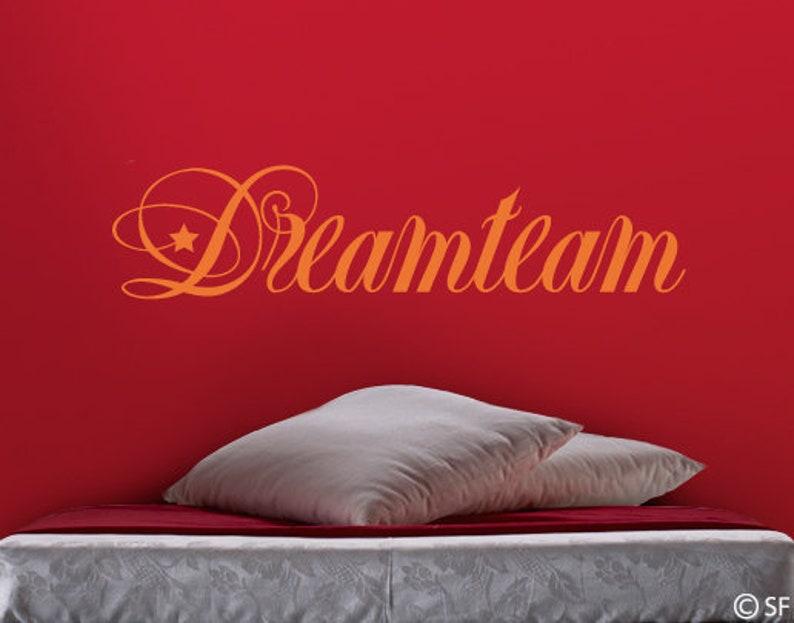 Wandtattoo Schlafzimmer Liebe Dreamteam uss027 | Etsy