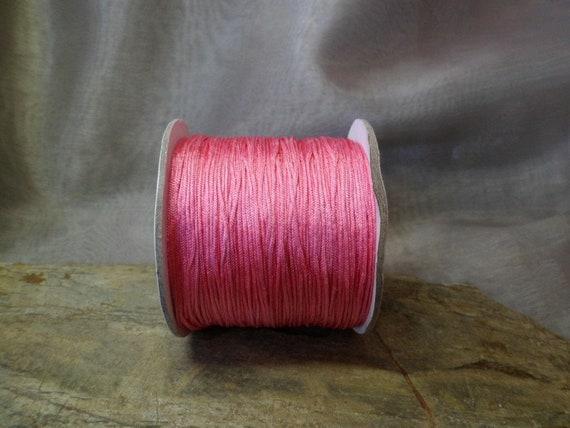 Rose de ruban de satin, satin, de cordon de 0,5 mm tressé, 120 m, 35 5f5462