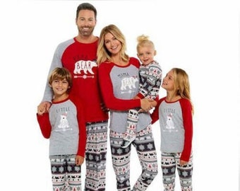 adult christmas bear matching family pajamas pjs - Family Pajamas Christmas