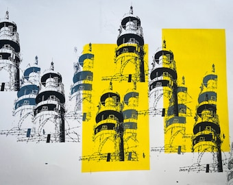 Heaton Park Tower Yellow