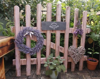 Dreamlike fence element / fence door for decoration - Shabby chic