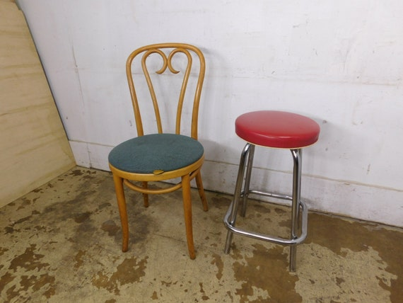 Cool 1950S Vintage Little Red Stool Chrome Kitchen Handy Chair Gmtry Best Dining Table And Chair Ideas Images Gmtryco