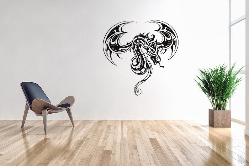 dragon decal home decor vinyl wall art dragon room decor   etsy