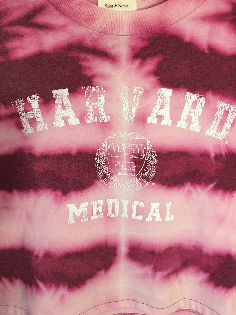 X-LARGE Harvard Medical  Dyed Cropped Tee