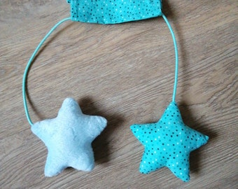Hanging stars or whales ideal for maxi-cosi/stroller