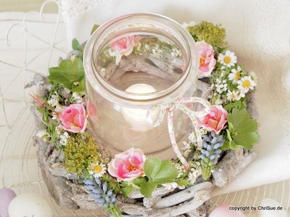 Fruhlingsdeko Flower Wreath Table Decorations
