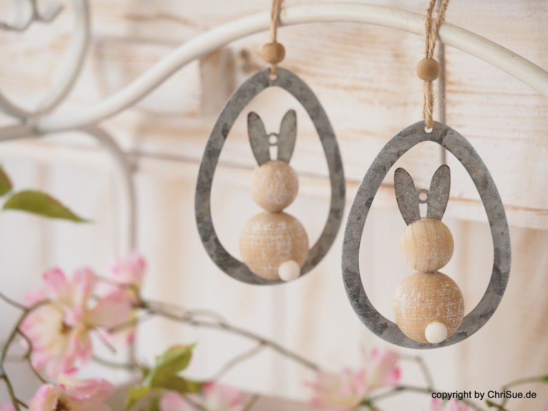 Easter decoration wooden bunny 4 pcs. image 0