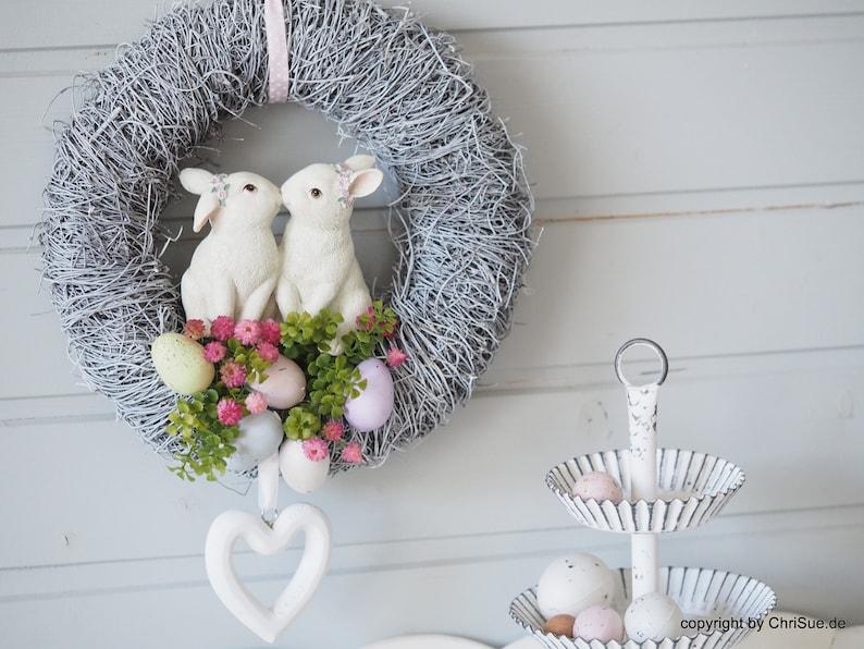 Door wreath spring door decoration Easter decoration wreath image 0