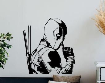 20w X 26h Deadpool ninja Wall Decal- Marvel Comics