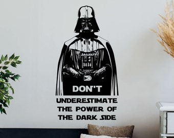 Home Decal Wall Art Darth Vader Helmet Logo Vinyl Room Decal O107 Dorm Decor Bedroom Decal Darth Vader Decal Star Wars Sticker Mural