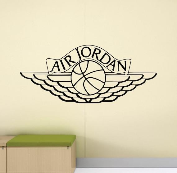 stickers muraux air jordan