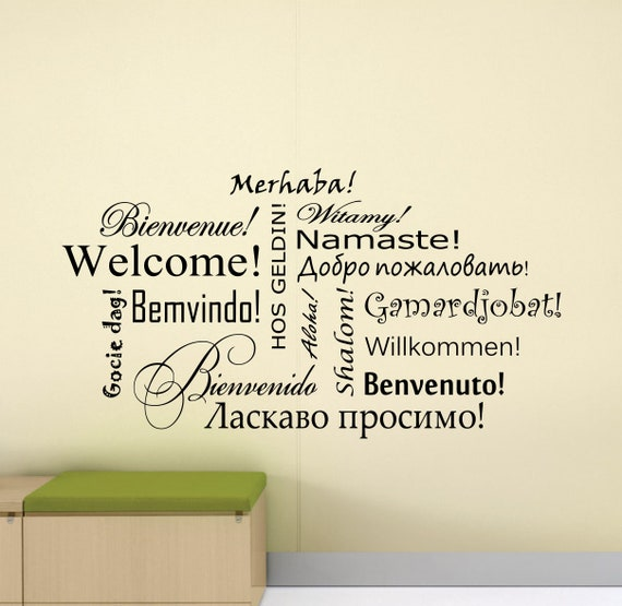 Welcome in different language Vinyl Decal