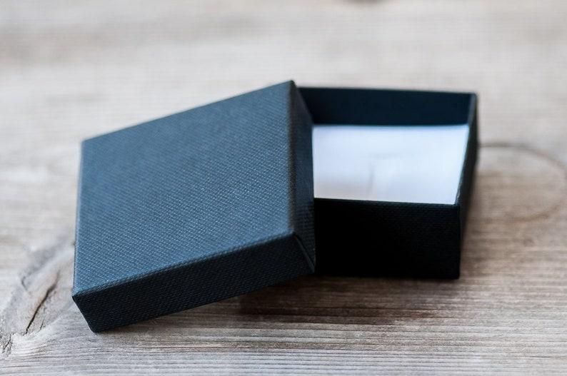 Black Jewelry Box 60mm 2.4 Eco Friendly Cardboard Earrings Box Gift Box Paper Box Elegant Black Small Jewelry Gift Box Packaging Supplies