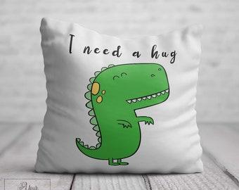 3ce1871512c I NEED HUG Cushion Her Cute Dinosaur Cushion Thinking Of You Gift Birthday  Gift Women Cheering Hugs Friendship Cheer Up Gift Friend Get Well