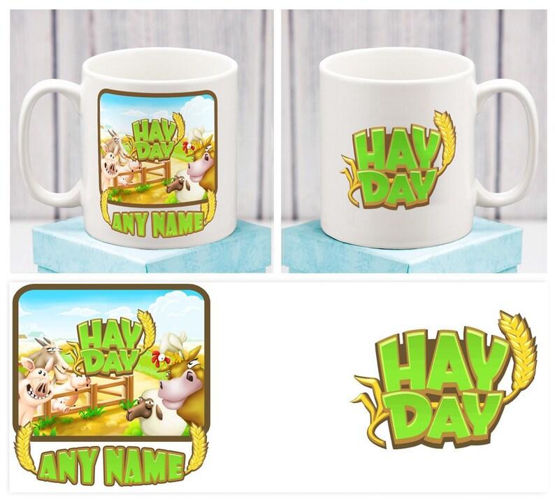 HAY DAY MUG HayDay App Cup Personalised Birthday Gift Him Men