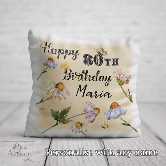 Personalised Cushion Mum 50th Floral 40th Nan,Friend Gift 60th Birthday