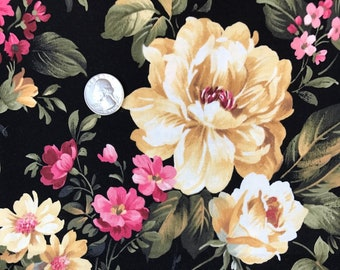 Hobby lobby fabric etsy fabric by the yard 1 yard of fabric 100 cotton quilting remnants fabric remnants destash fabric floral design flowers hobby lobby gumiabroncs Images