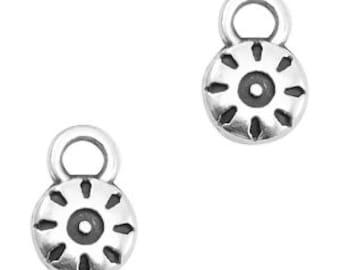 8x Acryl Perlen Beads Spacer Zwischenteil Schmuck DIY Muster Sonne 19x17,5mm