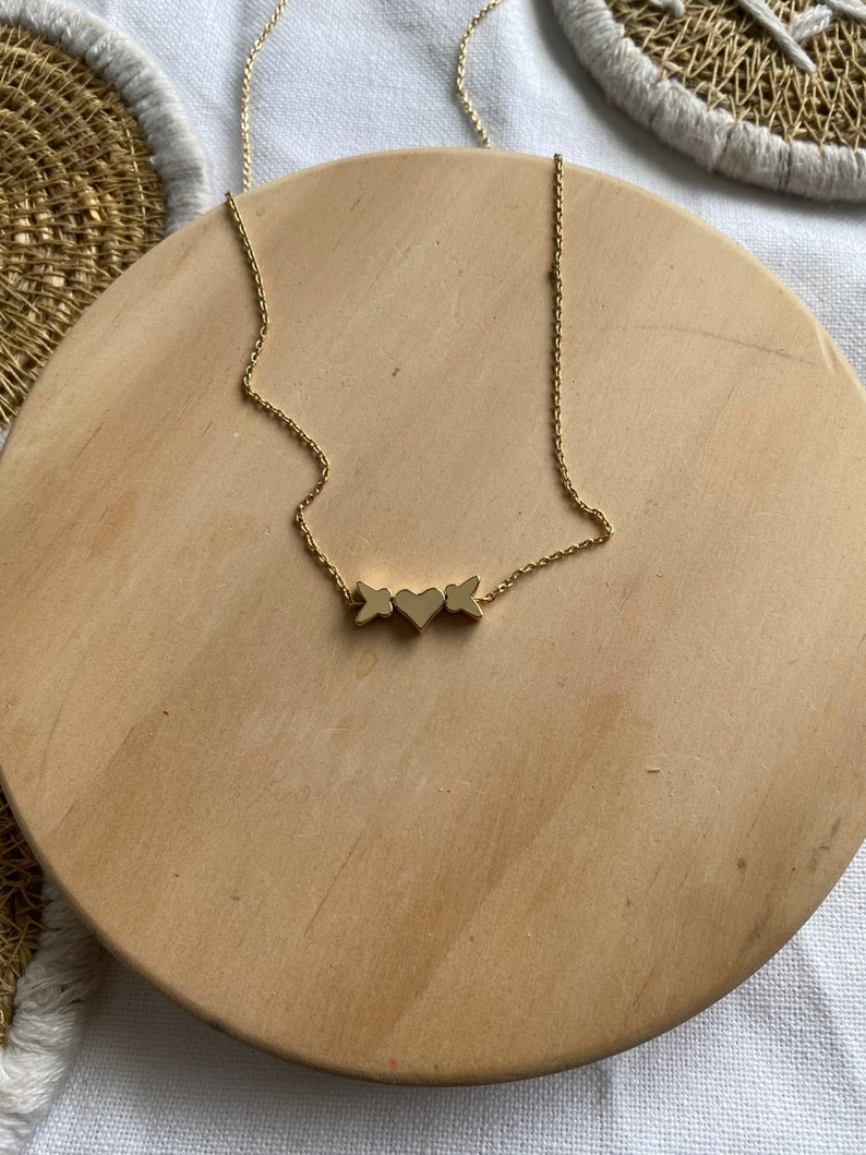 Butterfly Necklace High Quality Gold Plated Necklace Heart Necklace Charm Necklace