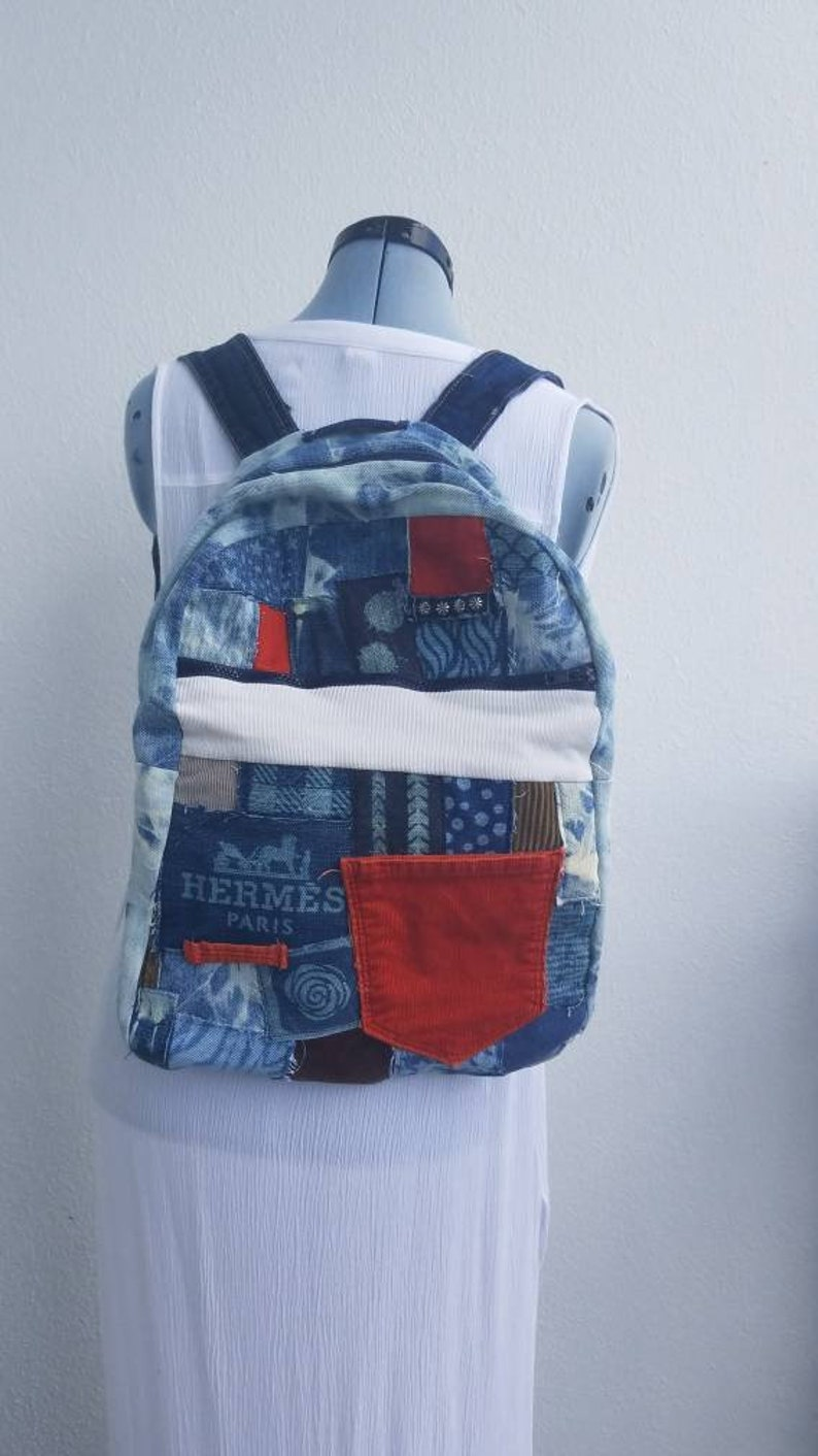 5aee702d65d6 Denim and corduroy with tie dye custom bleach Backpack boho | Etsy