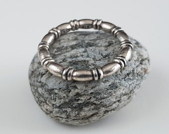 Bague en argent massif, bague fine, bague steampunk, anneau gothique, bague  minimaliste, bague vintage, bague pour femme, bijou gothique