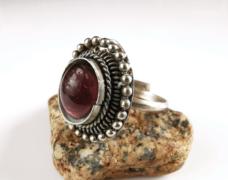 solitaire ring purple stone ring old ring medieval ring ring for women Vintage amethyst ring amethyst jewelry purple jewelry