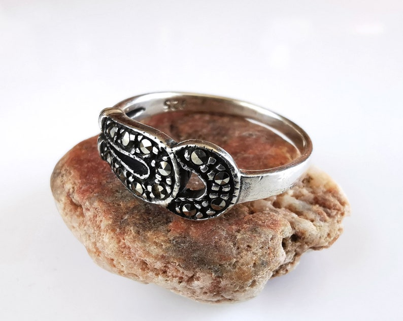 womens gift old jewelry vintage ring marcasite jewelry ancient ring marcasite ring Sterling silver ring womens jewelry ring for her