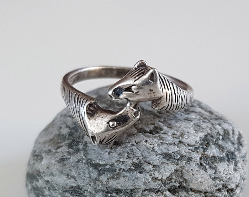 medieval ring vintage ring french ring royal ring castle ring Animal ring banner ring sterling silver ring unisex ring lord ring