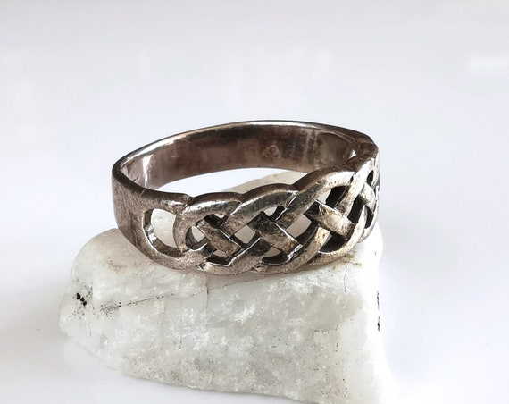 Silver celtic ring nordic ring ring for women scandinavian ring ring for her elven ring celtic jewelry viking ring forest ring