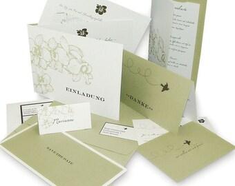 Hochzeitskarten Im Set Pergament Etsy