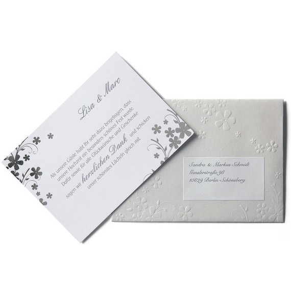 Wedding Cards In The Set Silverlove Incl Thank You Cards Menu And Place Cards All For Self Printing