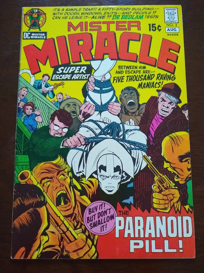 Mister miracle 3+DC comics+vintage comic books