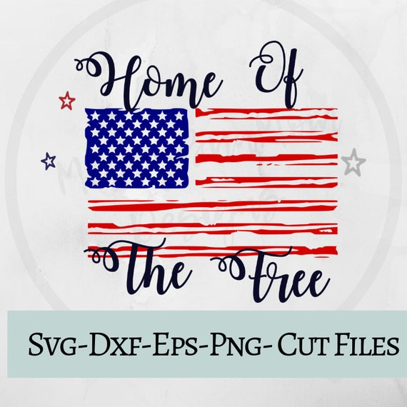 Home Of The Free Svg 4th Of July Svg Fireworks Svg Summer Etsy