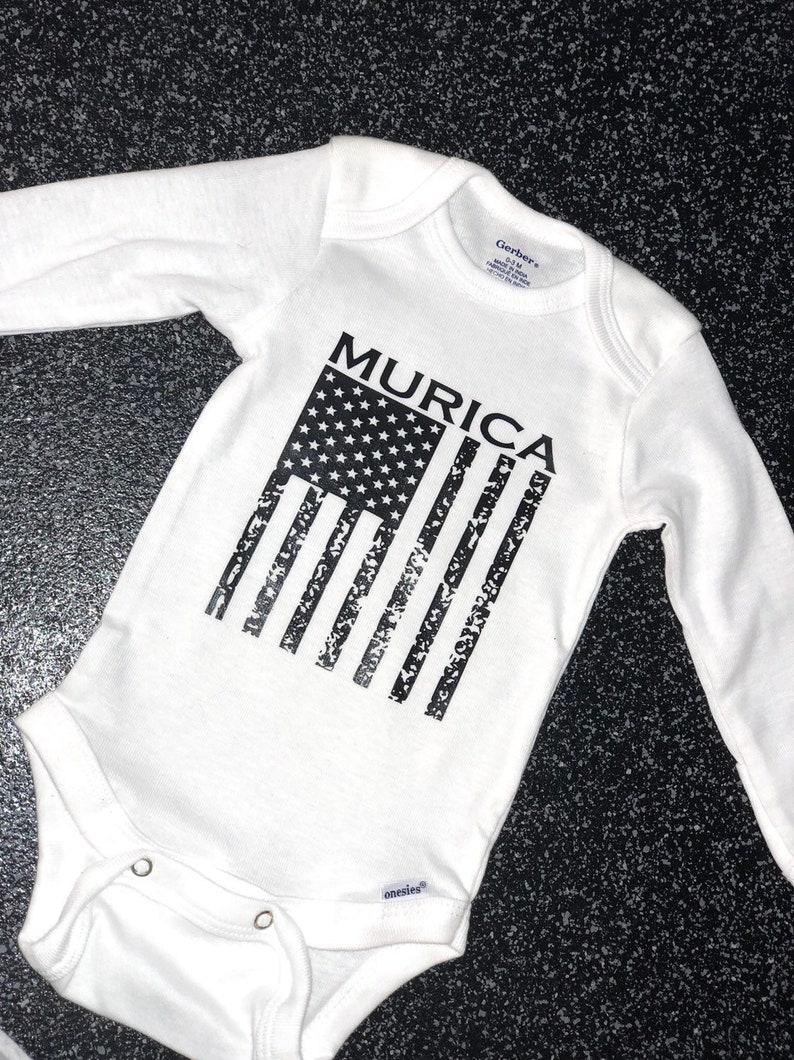MURICA American Flag onesie