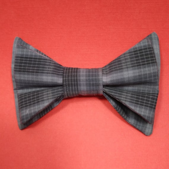 Uyoung Black White Red Checkers Mens Pre-tied Bow Tie