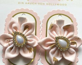 Baby Haarspange Blümchen Haarclip Hand Made