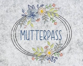 Button Boho Mother Pass 10 x 10 cm Doodle Stick File