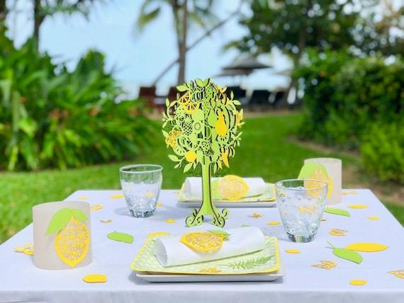 Tischdeko Sommer Zitronenbaum Etsy