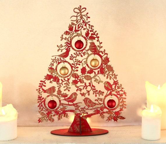 Tannenbaum Tischdeko Weihnachten Mistelbaum40 Cm Etsy