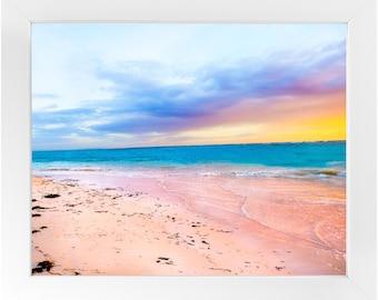 Sunrise Beach Framed Print, Beach Photography Print, Tropical Art, Original Fine Art Photography, Framed Travel Print